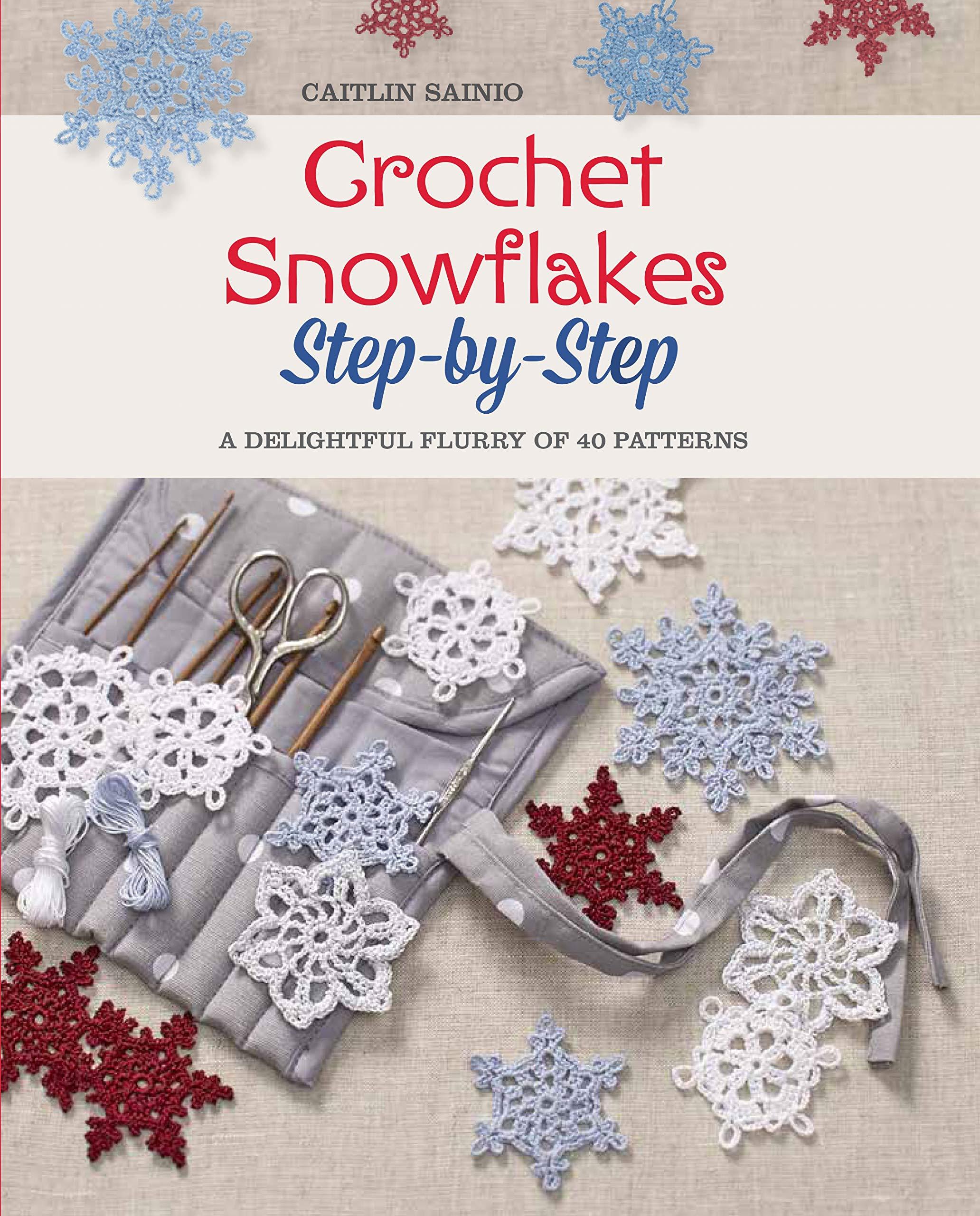 Christmas Gift Crochet Pattern 5 Snowflakes Christmas Tree Decoration Pattern Christmas Ornaments Pattern Crocheted Snowflake PDF Pattern