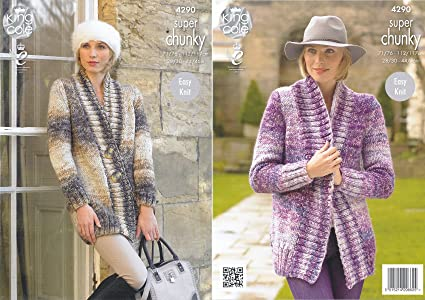 Amazon King Cole Ladies Easy Knit Super Chunky Tints Knitting