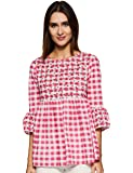 Styleville.in Women's Check flared top