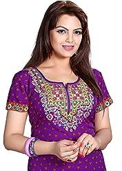 Unifiedclothes Women Fashion Casual Short Indian Kurti Tunic Kurta Top Shirt Dress 137D