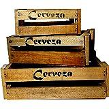 Amazon.de: 2er-Set Weinkisten Wein Kiste Holz Holzkiste braun