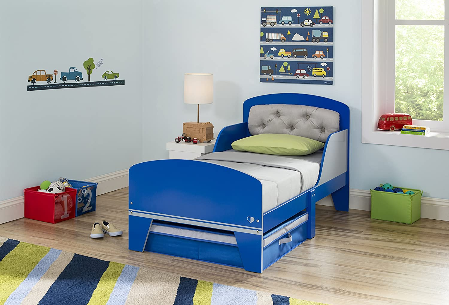 Amazon Com Delta Children Jack Jill Toddler Bed With Upholstered