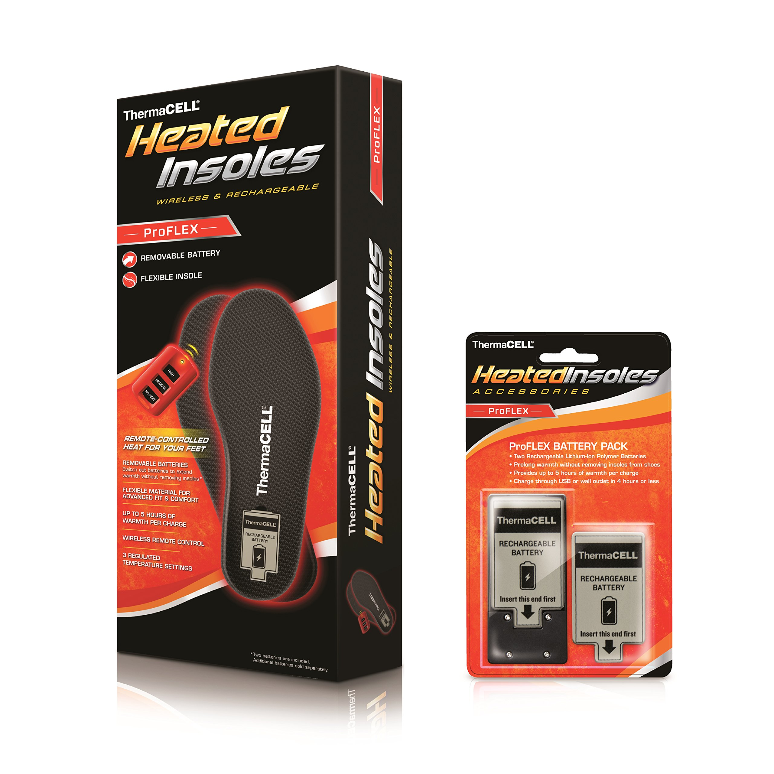 ThermaCELL Heated Insoles Proflex Small HW20-S,X-Large by Thermacell (Image #2)