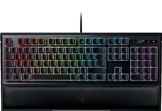 Razer Ornata Chroma Gaming Tastatur (Mecha-Membran Tasten, Chroma RGB Beleuchtung und Ergonomischen Design mit Handballenaufl