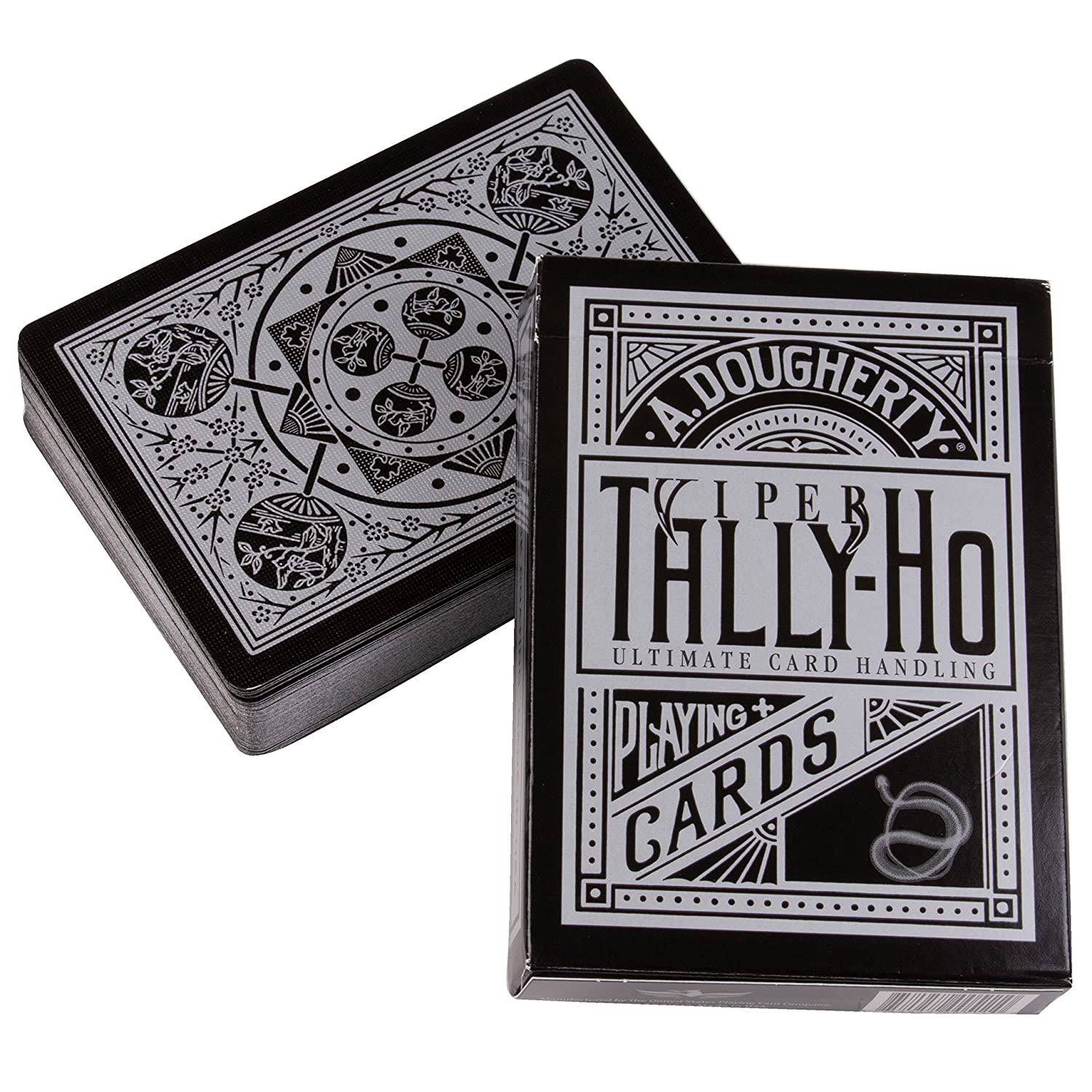 Tally-Ho Viper Fan-Back Deck ~ Black + Silver Playing Cards by Ellusionist.com Ellusionist VIPERF