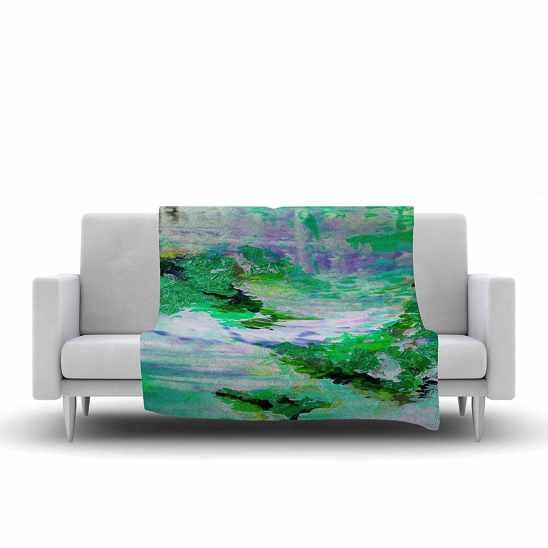 60 X 50 6 Green Blue Fleece Throw Blanket 60 by 50-Inch Kess InHouse EBI Emporium On Cloud Nine