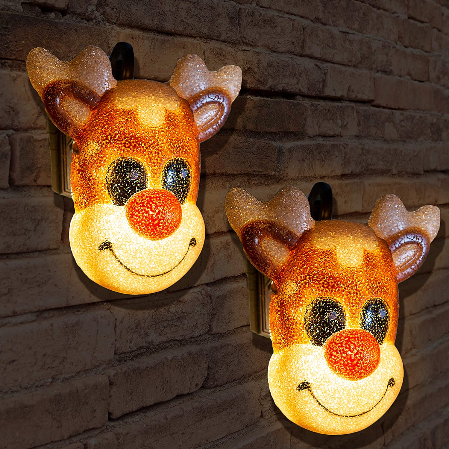 JOYIN 2 Pack Christmas Reindeer Porch Light Cover for Holiday and Christmas Decorations