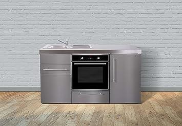 Miniküche Mit Kühlschrank Und Backofen : Miniküche premiumline mpbes u edelstahl u kühlschrank