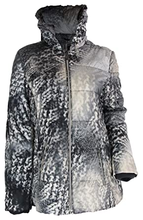 Winter 38 Weiß Jacke Unbekannt Biba Grau Gr Damen Mantel SUpGzMVq
