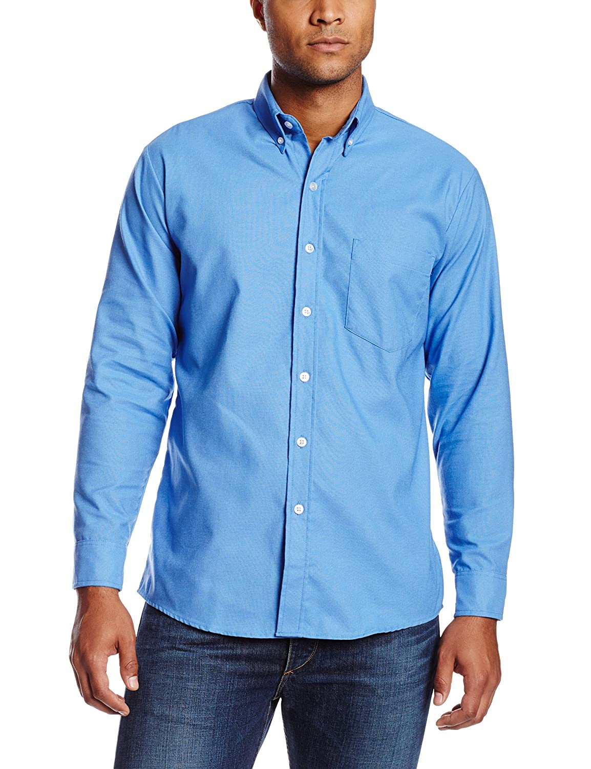 Dickies occupational workwear ss36fb 145rg polyester for Mens shirts with snaps instead of buttons