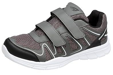 gibra® Herren Sportschuhe Sneaker, Art. 1137, mit Klettverschluss, grauweiß, Gr. 41 46