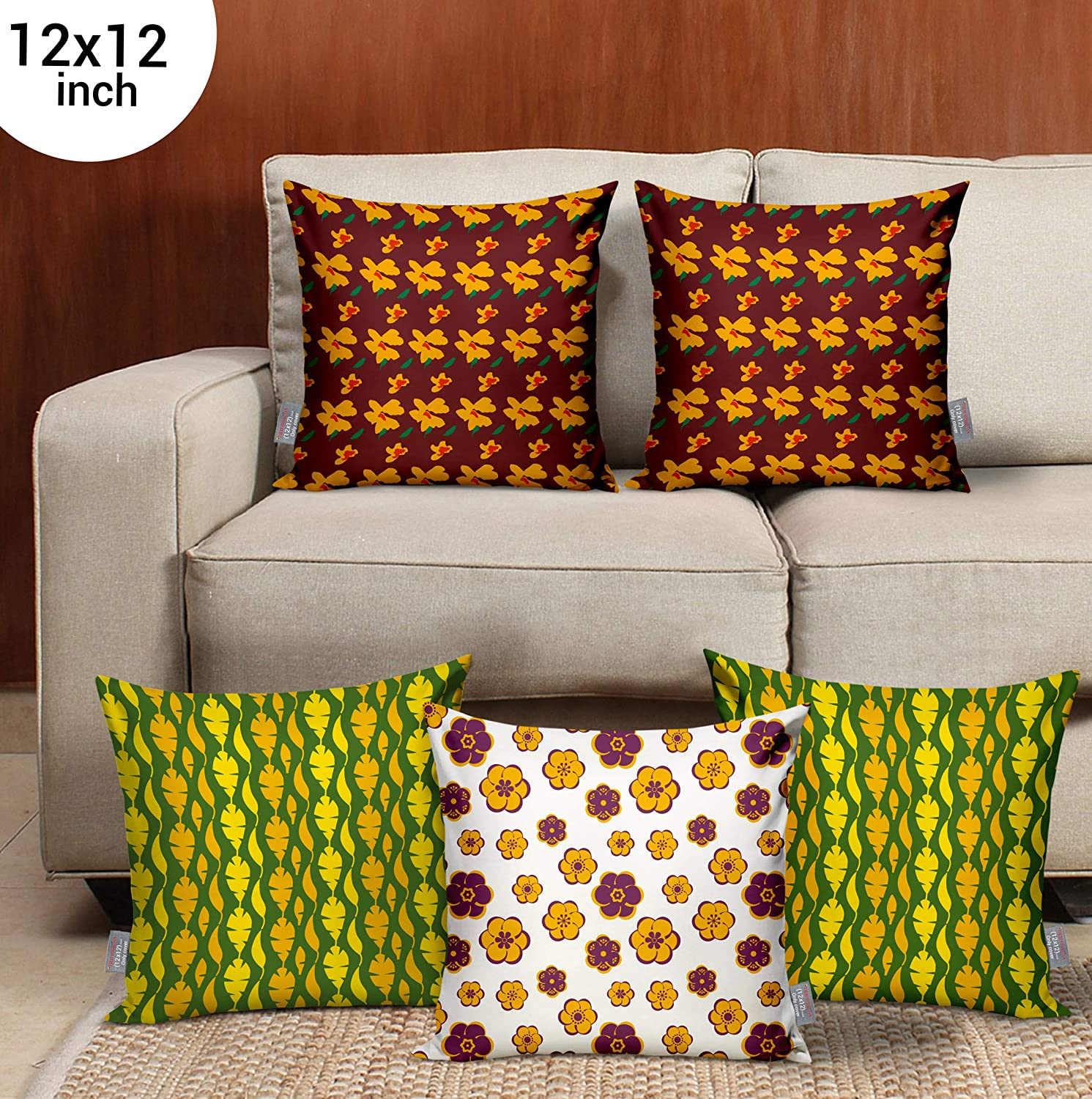 Buy Tied Ribbons Decorative Cushion Covers 12x12 Set Of 5 For Sofa Bedroom Living Room Decoration Multicolor Cute Valentines Day Gifts For Girlfriend Boyfriend Husband Girls Online At Low Prices In
