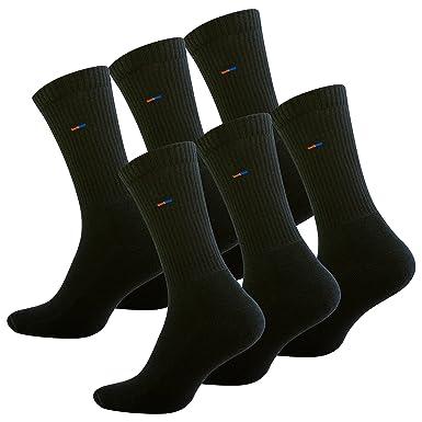 6 pares Calcetines de deporte con de rizo suela, Negro. Producto de calidad: Amazon.es: Ropa y accesorios