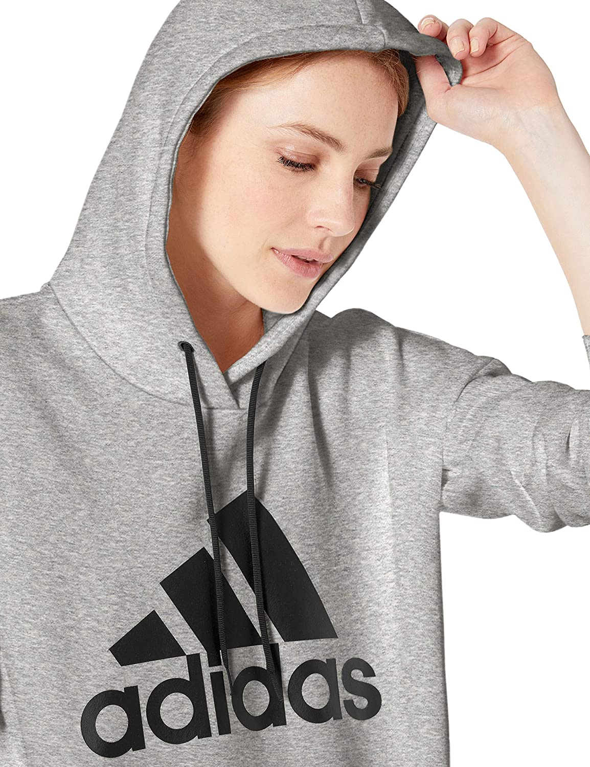 adidas Womens Must Have Badge Of Sport Hoodie Sweatshirt