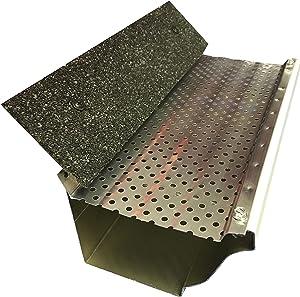"(200 feet) Shur Flo X Leaf Guard Gutter Protector for 5"" K-Style Gutters. Mill Finish Aluminum. 50 Panels x 4.00' Each."