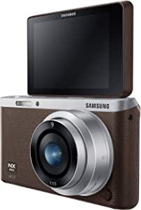 Samsung Electronics NX Mini EV-NXF1ZZB1JUS Wireless Smart 20.5MP Compact System Camera with 2.96-Inch LCD and 9mm f3.5 ED (Brown)