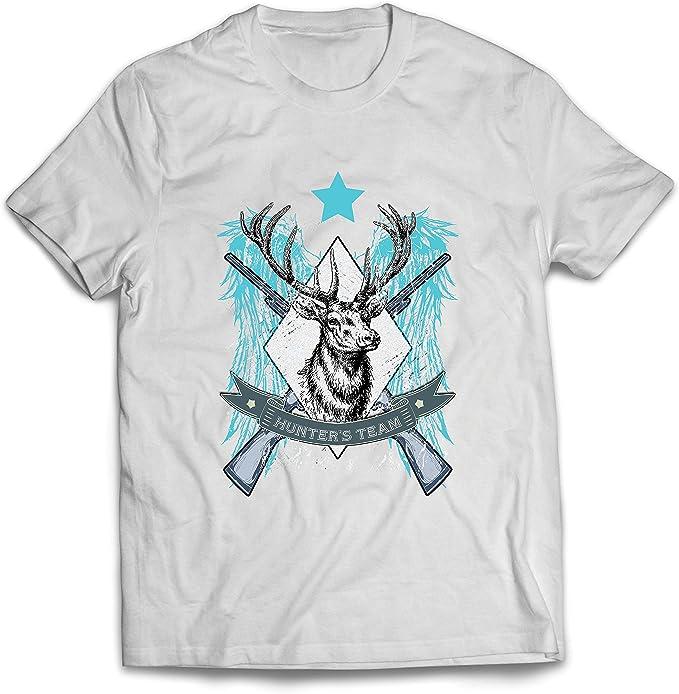 lepni.me Camisetas Hombre Equipo de escuadrón de Caza de Ciervos, Equipo de Caza, Regalo de Cazador: Amazon.es: Ropa y accesorios