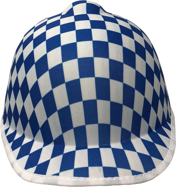Cosmic Chameleon - Sombrero de jockey para niños, diseño de cuadros azules: Amazon.es: Ropa y accesorios