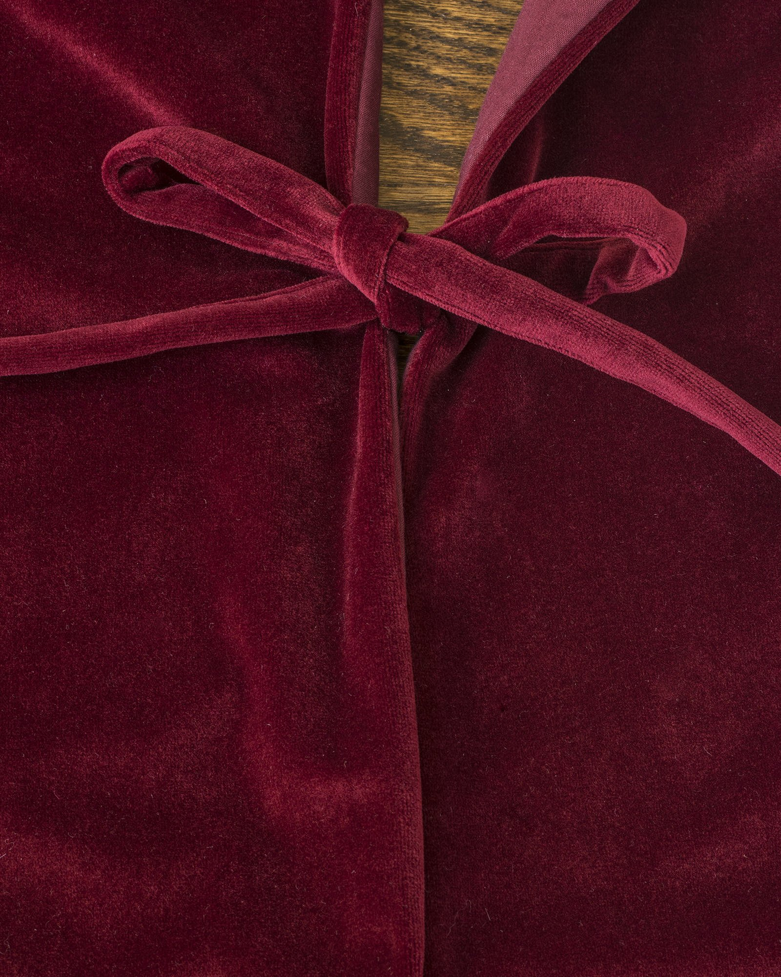 Balsam Hill Luxe Embroidered Velvet Tree Skirt, 60 inches, Wine by Balsam Hill (Image #4)
