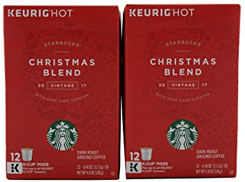 starbucks christmas blend vintage k cups for keurig coffee machines 12 count pack