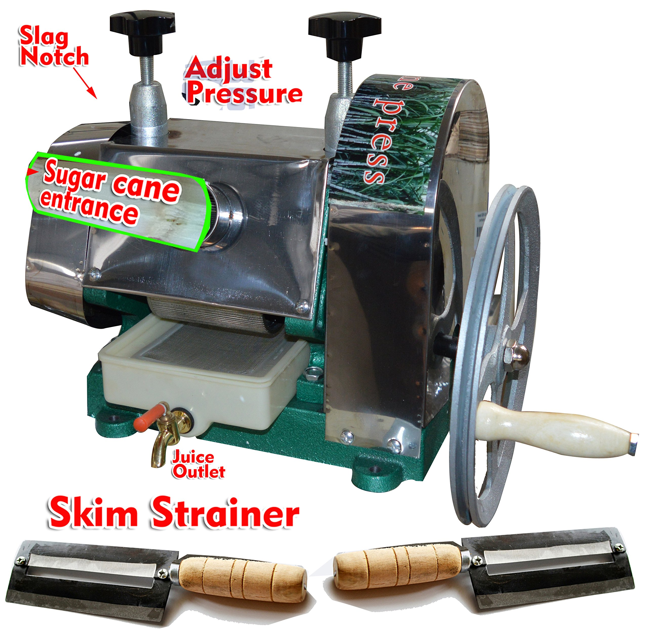 Commercial Sugar Cane Juicer Press Stainless Steel Rollers with Extractor Food Grade