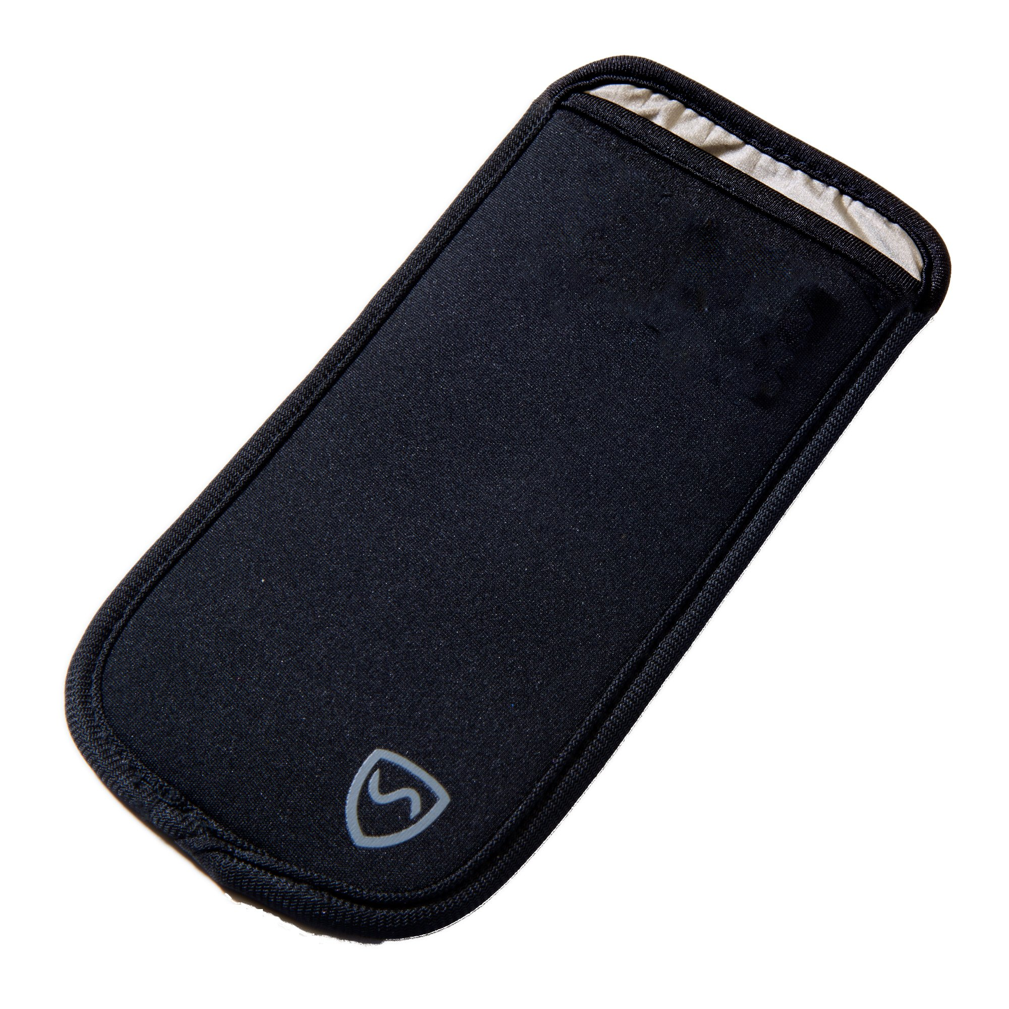 SYB Phone Pouch, Cell Phone EMF Protection Holster Sleeve for Phones up to 2.75'' Wide with Belt Hoop (Black, Large)