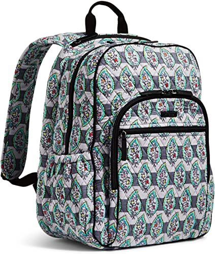 Vera Bradley Campus Tech Backpack in Paisley Stripes Signature Cotton