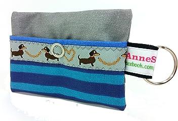 Kackbeutel Hundekotbeutel Spender Hundetüte Leckerli Tasche aus Wachstuch Gassi gehen Waste Geschenk Hundebesitzer Poop Bag