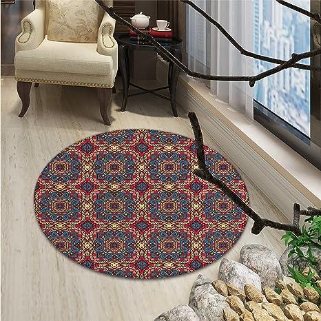 Amazon Com Vintage Small Round Rug Carpet Arabesque Middle