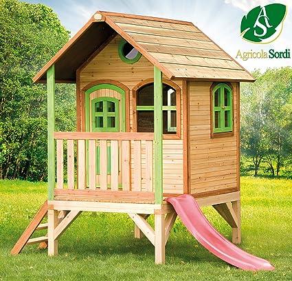 Axi – Casa de juegos de madera, modelo Tom, juegos de exterior / jardín