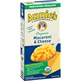 Annie's Organic Macaroni and Cheese, Pasta & Classic Mild Cheddar Mac and Cheese, 6 oz Box (Pack of 12)