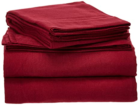 Amazoncom Pointehaven Heavy Weight Solid Flannel Sheet Set