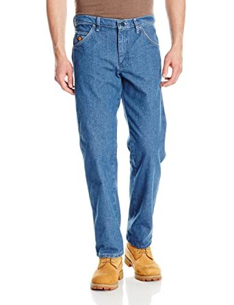 557c1bc0 Wrangler Men's FR Flame Resistant Cool Vantage Regular Fit Jean at Amazon  Men's Clothing store: