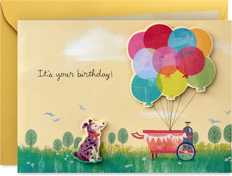 Hallmark Paper Wonder Pop Up Birthday Card (Get Carried Away)