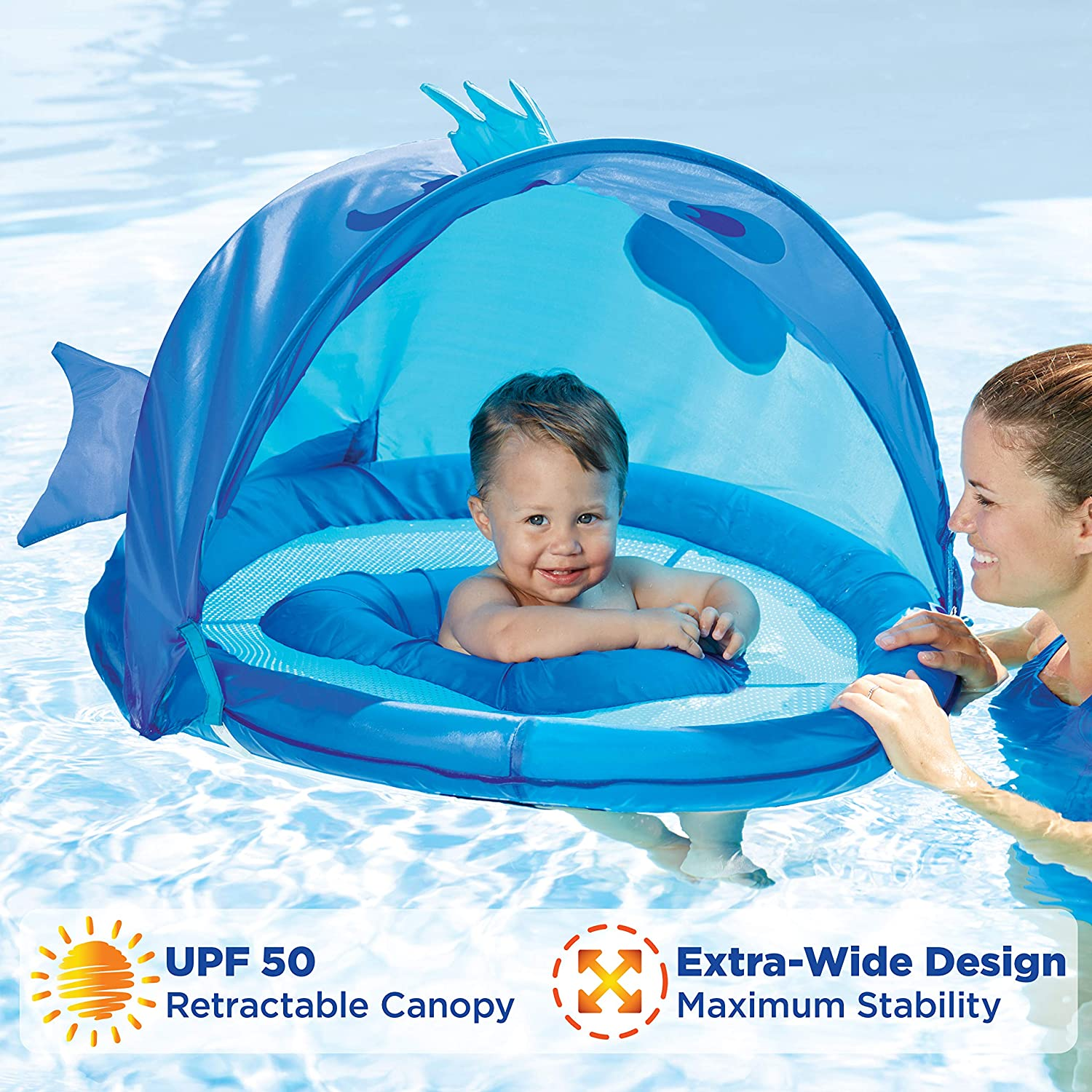 SwimSchool Fun Fish BabyBoat in Blue by Aqua Leisure Aqua Leisure-Domestic Toys ET9013B
