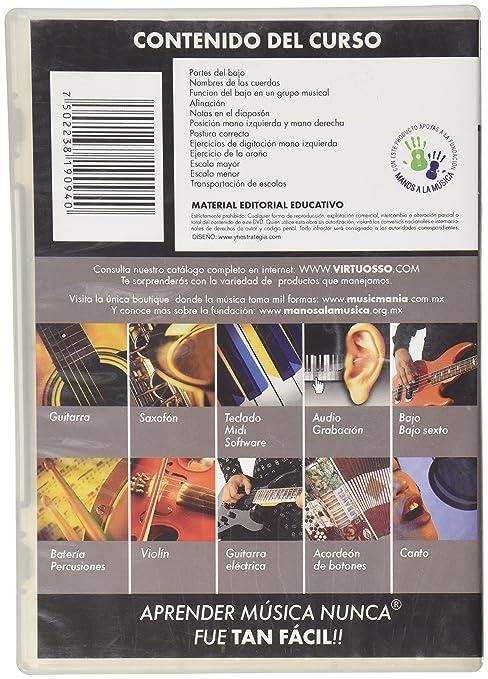 Amazon.com: Virtuosso Electric Bass Method Vol.1 (Curso De Bajo Eléctrico Vol.1) SPANISH ONLY: Musical Instruments