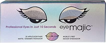 Eye Majic - Sombra de ojos instantánea - Maquillaje profesional en 10 segundos - 4 colores - Pack de 20 - Lust: Amazon.es: Belleza