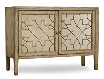 Hooker Furniture Sanctuary Two Door Mirrored Console In Surf Visage