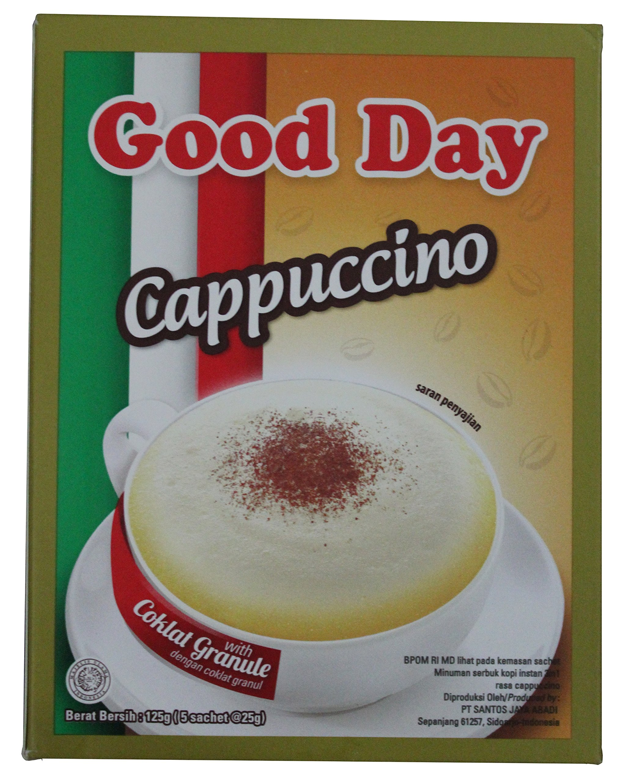 Good Day Cappuccino with Chocolate Granule Instant Coffee Box 125 ...