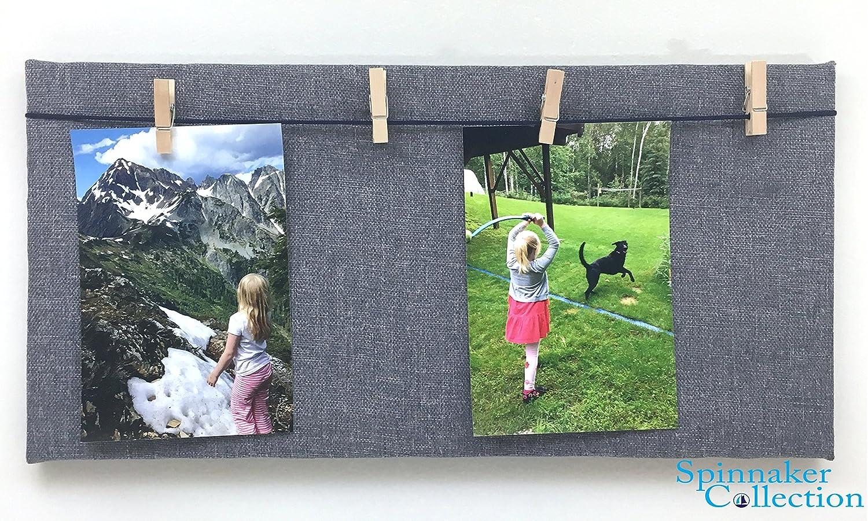 Blau Stoff Foto Board mit Holz Kleiderbügel, Pin, – 20,3 cm Zoll x ...