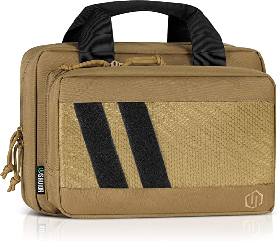 Savior Equipment Specialist Series Tactical Double Handgun Firearm Case Discreet Pistol Bag