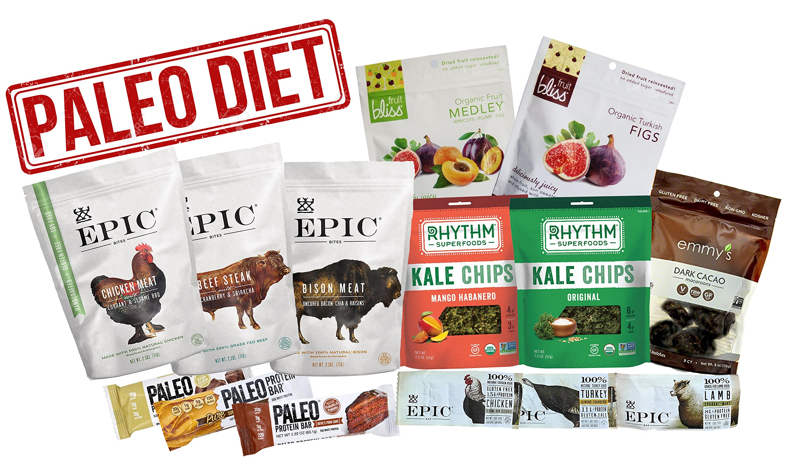 Amazon's Best Paleo Diet Variety Snack Pack of 14 Delicious Paleo Food Snacks by Amazon's Best