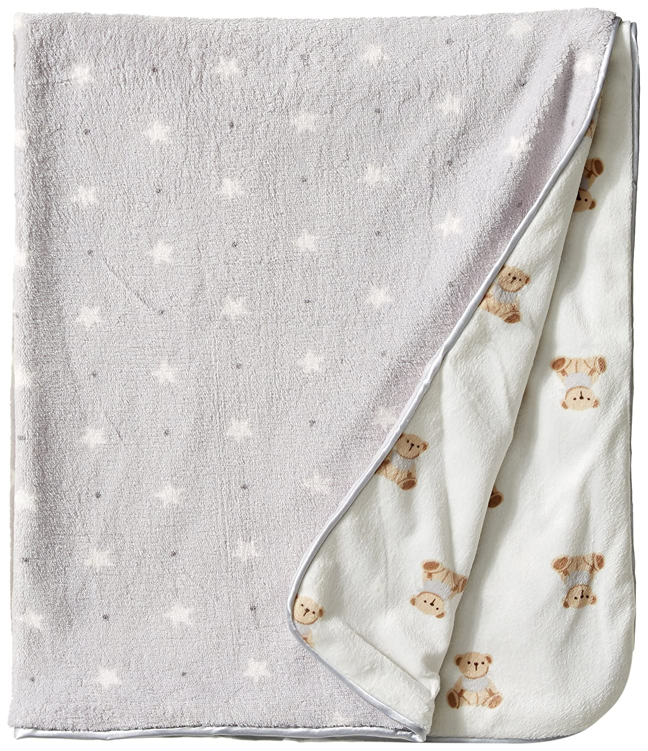 Rene Rofe Baby Unisex-Baby Newborn Teddy Bears and Stars Plush Blanket Multi One Size R414N