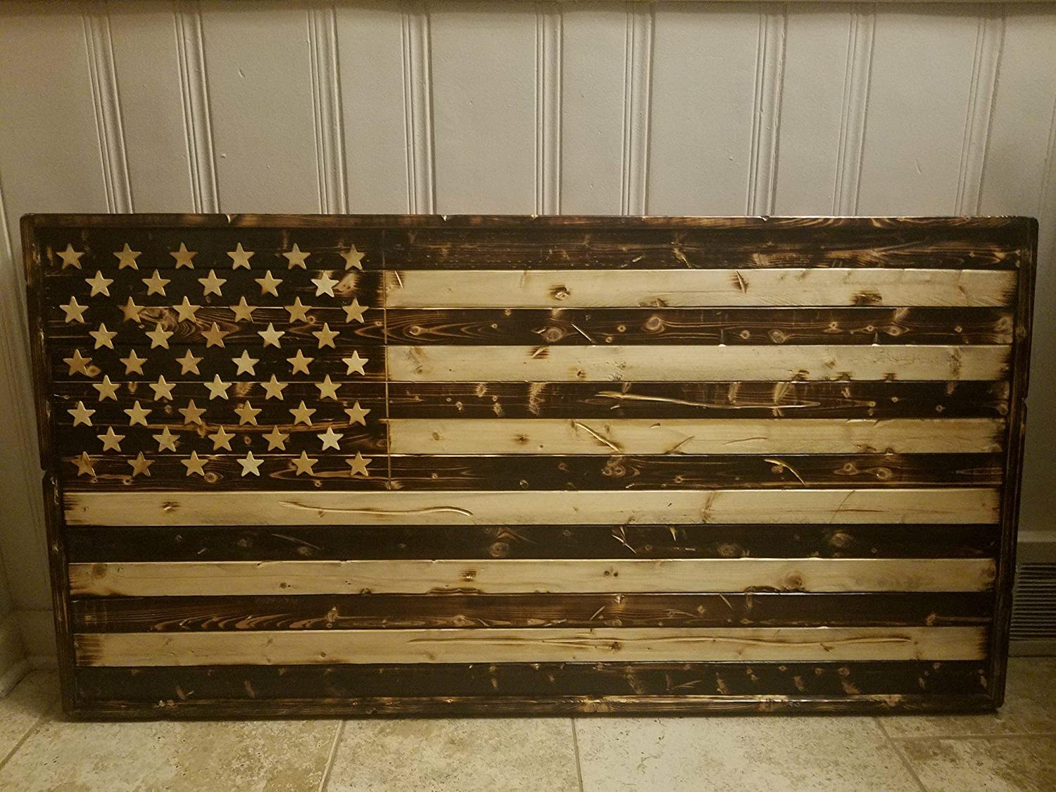 Amazon.com: American Flag Wall Decor  Light and Dark  Rustic