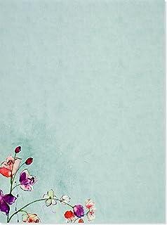 amazon com purple passion stationery paper envelopes 40 sets