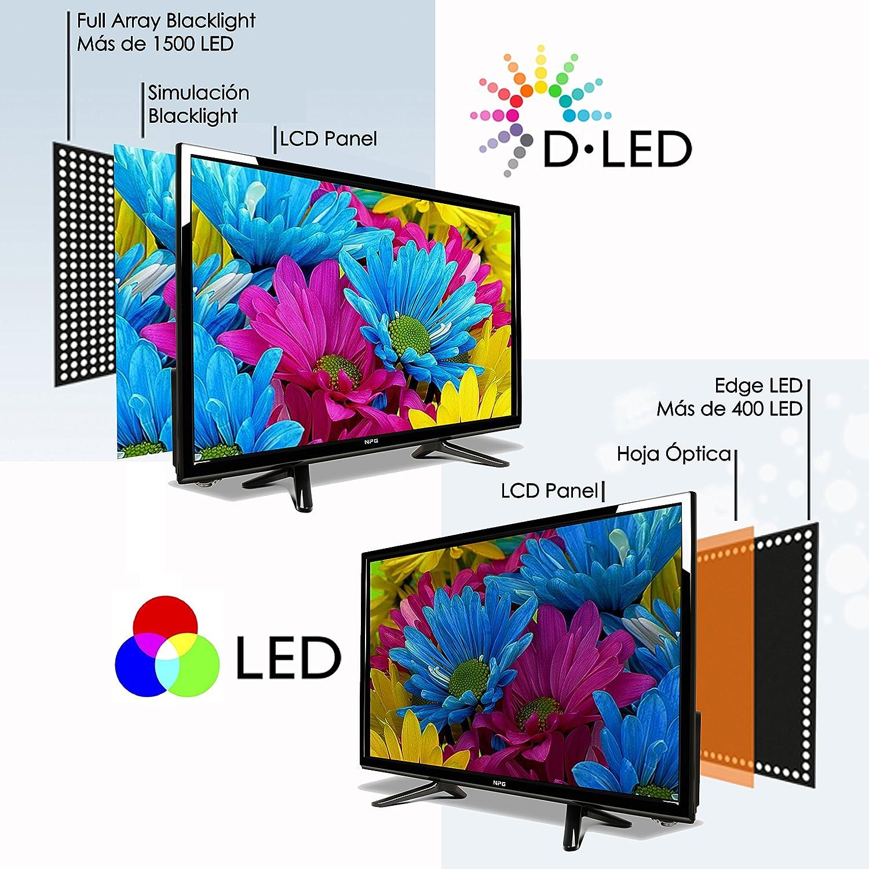 """NPG TVS400DL40F - TV D-LED 40"""" HD TV 1080p Smart TV Android: Amazon.es: Electrónica"""