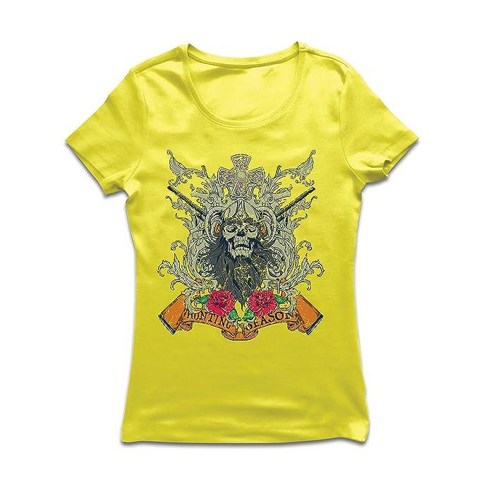 lepni.me Camiseta Mujer Ropa de Temporada de Caza - Caza de venado o Pato, Ropa de Cazador: Amazon.es: Ropa y accesorios