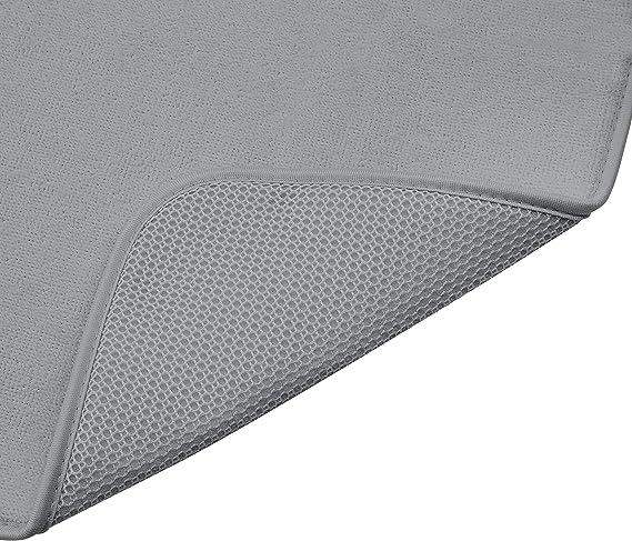 con 2 esterillas 48 x 61 cm Estanter/ía de secado color negro//negro Basics