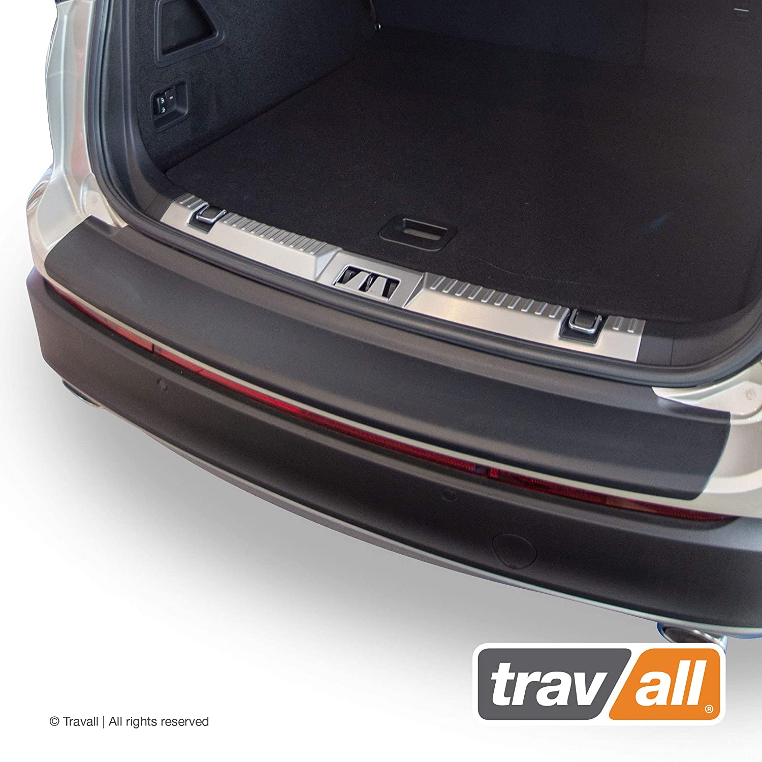 Travall Protector TBP1088P - Vehicle-Specific Black Plastic Moulded Rear Bumper Protector [Smooth]