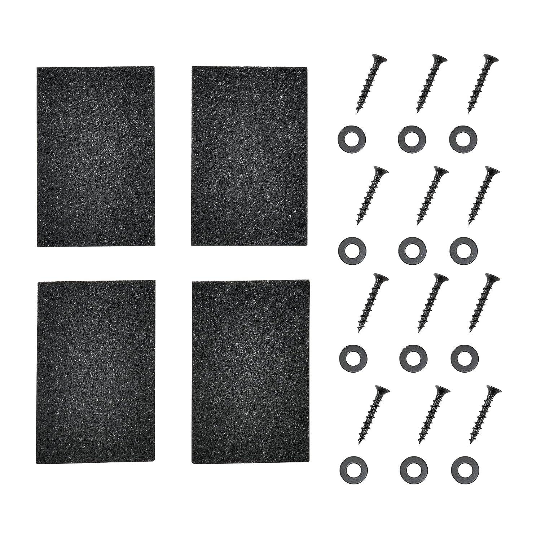 Pieds de meubles en.CASA Set de 5 Pieds de Table Pied de Meuble